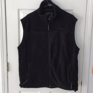 Cabela's Men's Black Fleece Vest - Size Large Tall